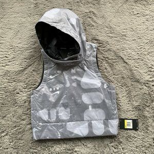 Nike Air Hooded Cropped Running Vest Size Small
